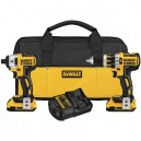 Dewalt DCK286D2  20V MAX* XR Lithium Ion Brushless Compact Hammerdrill & Impact Driver Combo Kit