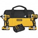 Dewalt 20V MAX XR Cordless Lithium-Ion 1/2 in. Brushless Drill Driver and Impact Driver Combo Kit
